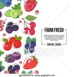 EPS Vector - Farm fresh banner with ripe berries. Stock ...