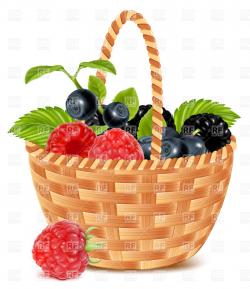 Basket Of Berries Clipart