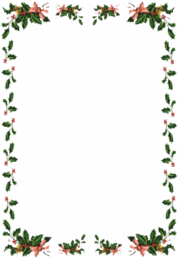 Christmas holly border paper - paper crafts, Holly leaves and ...