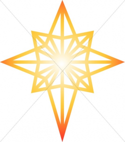 Glowing Star of Bethlehem Clipart | Epiphany Clipart