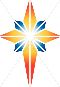 Red and Blue Star of Bethlehem | Epiphany Clipart