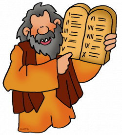 Moses and the Ten Commandments | Philip Martin | Free Bible Clipart ...