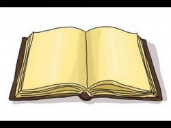 How to draw an open book - YouTube