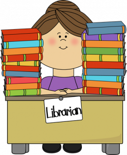 library clip art free | Clip Art Image - librarian sitting at a desk ...