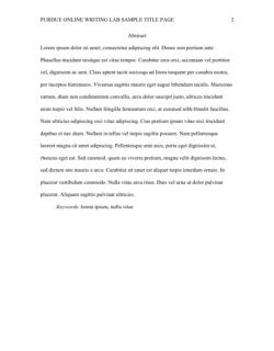 General Format // Purdue Writing Lab