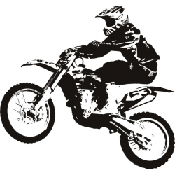 dirt-bike-clipart-black-and-white-Dirt-bike-transport-sports-and ...