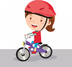 Bikes and Bicycles - Girl Riding Bike | Clipart | The Arts | Image ...