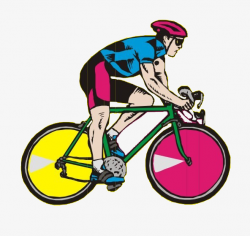 Cartoon Mountain Bike Race, Mountain Bike, Game, Bicycle PNG Image ...