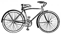 Vintage Bicycle Clip Art - Free Clip Art
