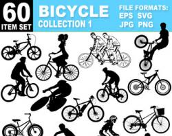 Bike clipart | Etsy