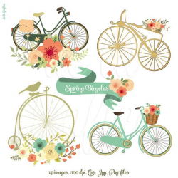 Floral Banners 3 Clip Art Clipart. Digital Banners by Delagrafica ...