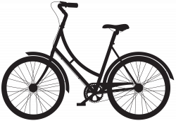 Bicycle Silhouette PNG Clip Art | Gallery Yopriceville - High ...