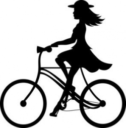 Bike Riding Clipart Image: Clip Art Ilustration silhouette of a girl ...