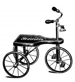 Vintage Clip Art - Transportation Toys - Scooter etc - The Graphics ...