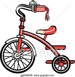 Vector Stock - Bike bicycle trike tricycle clipart. Clipart ...