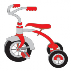 Bicycle clipart tricycle - Pencil and in color bicycle clipart tricycle