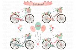 Wedding Bike Clipart ~ Illustrations ~ Creative Market