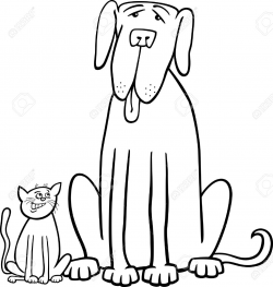 28+ Collection of Big Dog Clipart Black And White   High quality ...