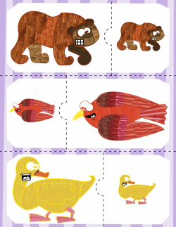 Brown Bear Big & Small Puzzles | Brown bear, Bears and Autism activities