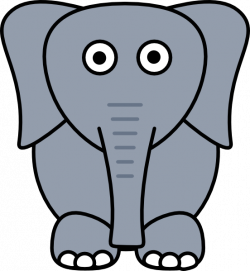 Larger clipart elephant cartoon - Pencil and in color larger clipart ...