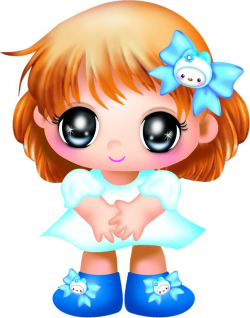 Láminas Infantiles y para Adolescentes | Girl clipart, Big eyes and ...