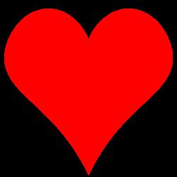 Clipart - Plain Red Heart Shape