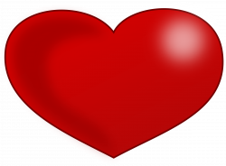 Clipart - Red Glossy Valentine Heart