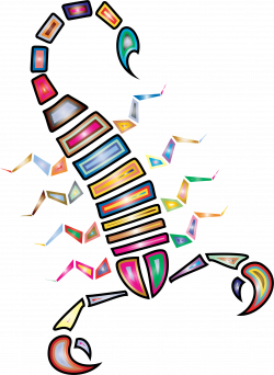 Clipart - Colorful Abstract Tribal Scorpion