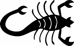 Clipart - Stylized Scorpion Silhouette