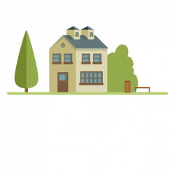 Big flat building city house - Transparent PNG & SVG vector
