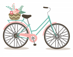 Bicycle clipart cute - Pencil and in color bicycle clipart cute