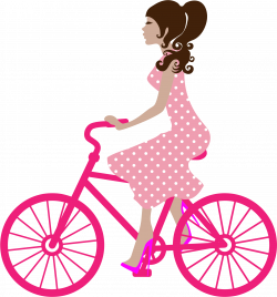 Girl On Bike Icons PNG - Free PNG and Icons Downloads