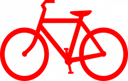 Red Bicycle Outline Clip Art at Clker.com - vector clip art online ...