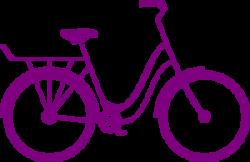 Purple Bike Clip Art at Clker.com - vector clip art online, royalty ...