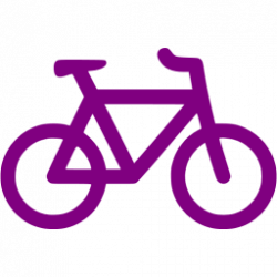 Purple bicycle icon - Free purple bicycle icons