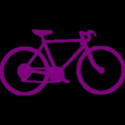 Purple bike 2 icon - Free purple bike icons