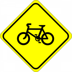Watch For Bicycles Sign Clip Art at Clker.com - vector clip art ...