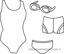 Clip Art Black And White Bathing Suit Clipart