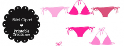 Bikini Clipart in Shades of Pink — Printable Treats.com