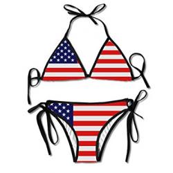 Amazon.com: American Flag Bikini,WEINFUN Women's Flag Bikini ...