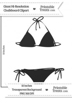 Clean Chalkboard Giant Bikini Clipart — Printable Treats.com