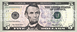 five dollar bill US - /money/US_Currency/US_currency_large ...