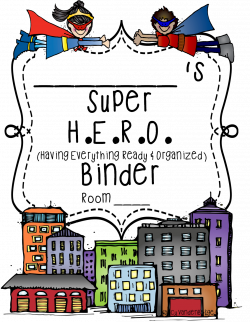 First Grade Wow: Super Hero theme binder | School | Pinterest ...