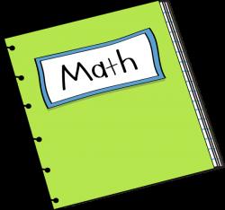 Math Notebook Clip Art - Math Notebook Vector Image | First Then ...