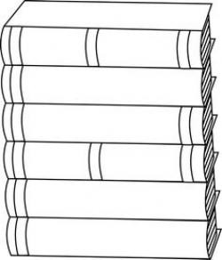 stack of books clip art | of Books Clip Art Image - black and white ...