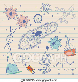Vector Stock - Biology sketches background . Clipart ...