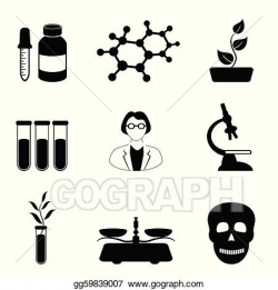 Vector Illustration - Science, biology and chemistry icon set. Stock ...