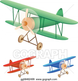 Vector Art - Old biplane. Clipart Drawing gg58462499 - GoGraph
