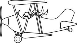 Free Biplane Clipart Image 0515-1005-2920-5763 | Airplane Clipart