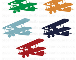 Airplane Clip Art. Vintage Airplane Clipart. Airplane PNG.